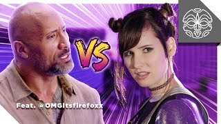 The Rock VS. OMGitsfirefoxx: Reality Quest