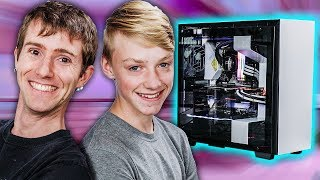 We Replaced his Crappy Laptop with a DREAM PC!! - ROG Rig Reboot 2018