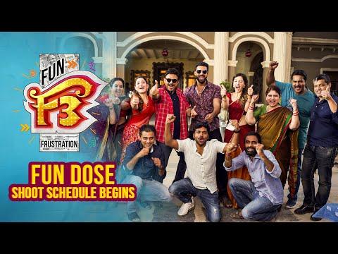 F3 Fun Dose - F3 shooting resumes in Hyderabad- Venkatesh, Varun Tej- Dil Raju