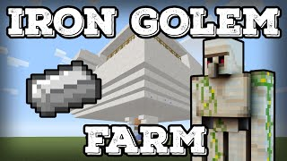 Minecraft Tutorial - Iron Golem Farm - Infinite Iron(Minecraft 1.12+)
