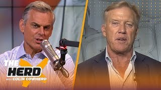 John Elway talks drafting and evaluating process, hiring Fangio, Tom Brady & more | NFL | THE HERD