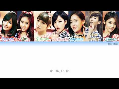 T-ARA (티아라) - Roly Poly (롤리폴리) Lyrics (Han Rom Eng Color Coded) #TBS