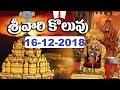 శ్రీవారి కొలువు | Srivari Koluvu | 16-12-18 | SVBC TTD