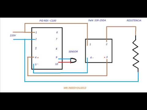 rex c100 wiring diagram ligaçoes pid rex c100 - youtube 91 chevy 1500 350 c100 wiring diagram #2