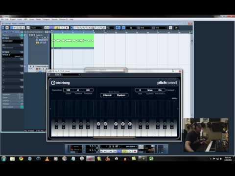 Cubase 5 Pitch correct settings for T-Pain style (Autotune)