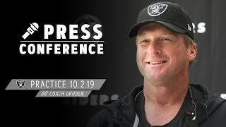 "Coach Gruden on facing Bears: ""We're anxious to see how we stack up"" 
