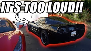 GETTING EVICTED Because My New C5 Corvette Exhaust is *TOO LOUD*