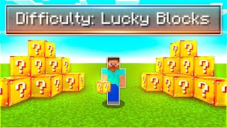 I Beat Minecraft With Only Lucky Blocks...