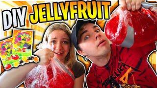 Race To Make the BIGGEST Tiktok DIY Jellyfruit! How to make Tiktok Jelly Fruit Loser has to do DARE!
