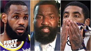 Kyrie Irving is SO jealous of LeBron - Kendrick Perkins | First Take