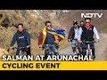 Salman Khan Goes Cycling With Kiren Rijiju, Pema Khandu In Arunachal