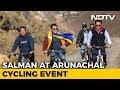 Salman Khan Goes Cycling With Kiren Rijiju, Pema Khandu In Arunachal