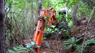 Abandoned Excavator left in woods for 16 years- Will it start ??