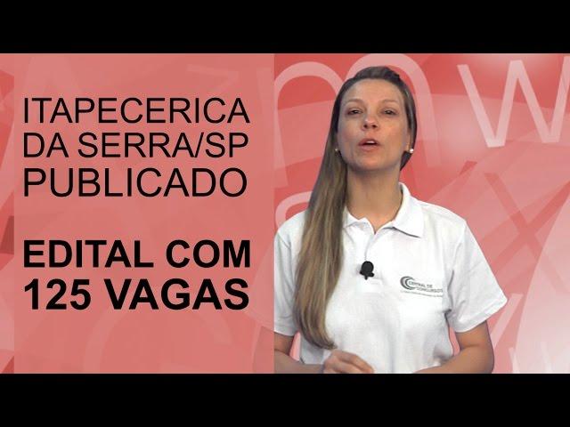[Concurso Itapecerica da Serra/SP]