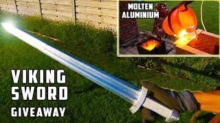 Giant Aluminum Casting during Thunderstorm - Viking Sword !