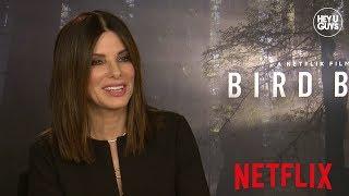 Sandra Bullock on acting with a blindfold, John Malkovich & Sarah Paulson for Netflix's Bird Box