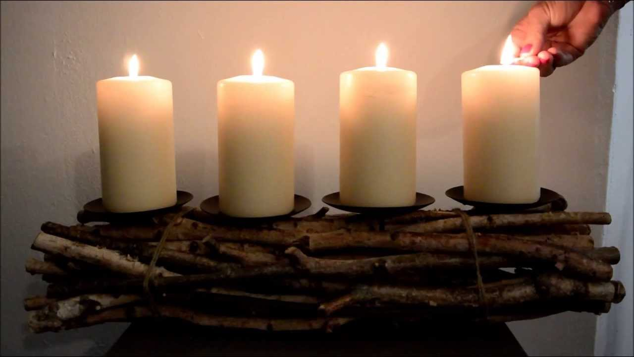 adventskranz holz youtube