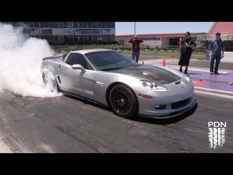 1200+HP Turbo Corvette running 168mph - 1/4 mile