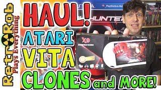 Retro and Modern Haul: Atari, PS Vita, PSP, Nintendo Wii U, Clones and More!