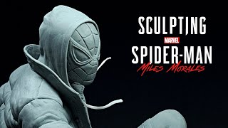 Sculpting Spider-Man Miles Morales in Clay