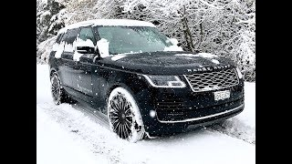 Range Rover Vogue 2019 - 4.4 l. V8 - Test & Review on the Snow