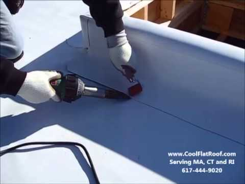Tpo Flat Roofing Parapet Wall Flashing Youtube