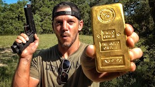 Is a Gold Bar Bulletproof? $45,000!!!