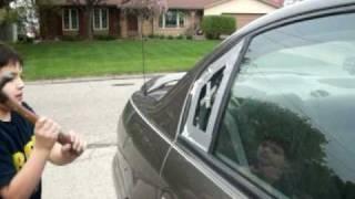 Smashing Car Window