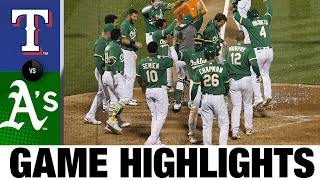 Stephen Piscotty walks off with a grand slam | Rangers-A's Game Highlights 8/4/20
