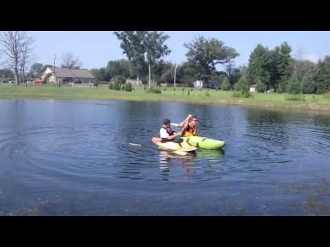 Kayak Rescue techniques for a kayaker that is blind.