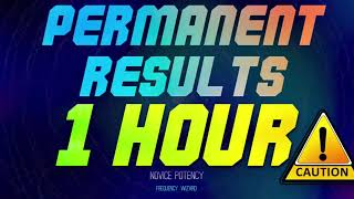 #⚡️GET PERMANENT SUBLIMINAL RESULTS IN 1 HOUR  PROCEED WITH CAUTION  NOVICE P
