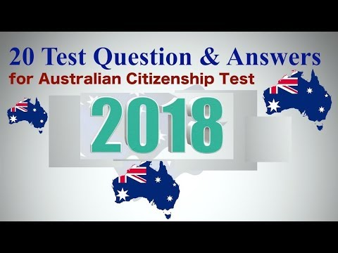 20 Test Questions And Answers For Australian Citizenship Test 2018 (OFFICIAL)