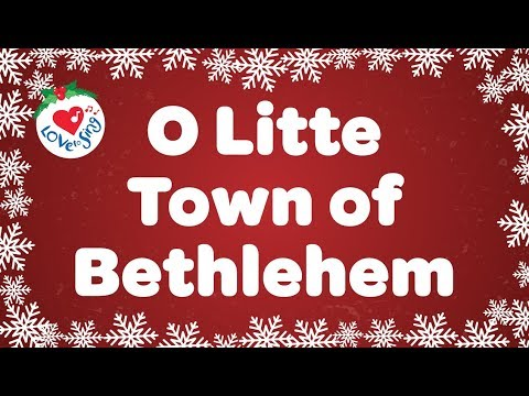 O Little Town of Bethlehem with Lyrics | Christmas Carol & Song | Children Love to Sing