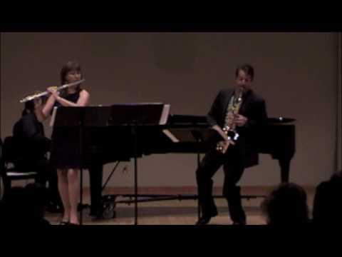 Trio for flute, alto saxophone and piano, Mvt. #3