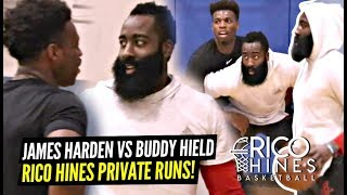 James Harden ACTIVATES HOODIE JAMES & Goes AT IT w/ Buddy Hield at Rico Hines Runs!!