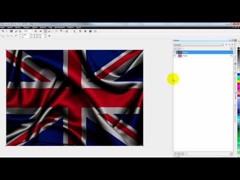 Corel Photo Paint X6 - Mapa de Desplazamiento o Pliegue de Bandera