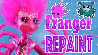 Tutorial: Franger Repaint  Monster High daughter of the blob Ooak custom doll