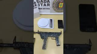 Brigada Militar prende integrante de organização criminosa com submetralhadora artesanal em Guaíba