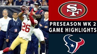 49ers vs. Texans Highlights | NFL 2018 Preseason Week 2