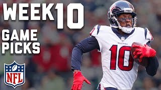 Week 10 Game Picks in Under 3 Minutes⏱🏈    NFL Highlights