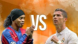 Ronaldinho VS Cristiano Ronaldo ► Splendid Dribbling Skills & Goals