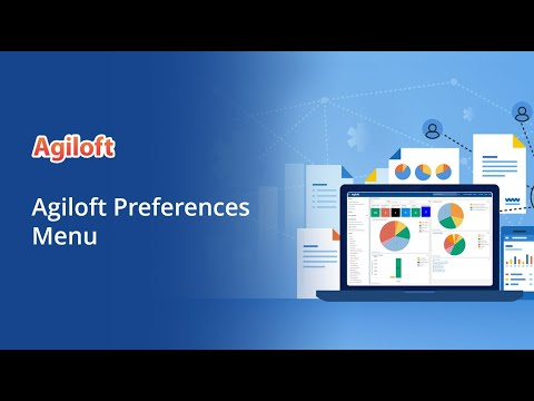Agiloft Preferences Menu