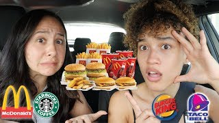 LETTING THE PERSON IN FRONT OF US DECIDE WHAT WE EAT w/ FRANNY ARRIETA