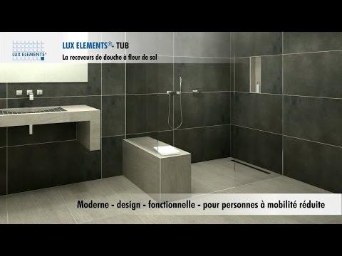 Produit LUX ELEMENTS : Receveur de douches à fleur de sol pour toutes les salles de bain