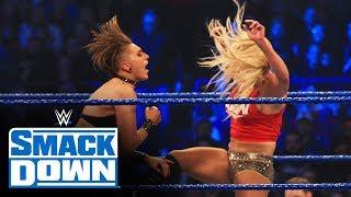 Charlotte Flair vs. Rhea Ripley vs. Sasha Banks – Triple Threat Match: SmackDown, Nov. 22, 2019