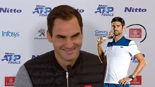 "Roger Federer ""It's always special to beat Djokovic"" - London 2019 (HD)"
