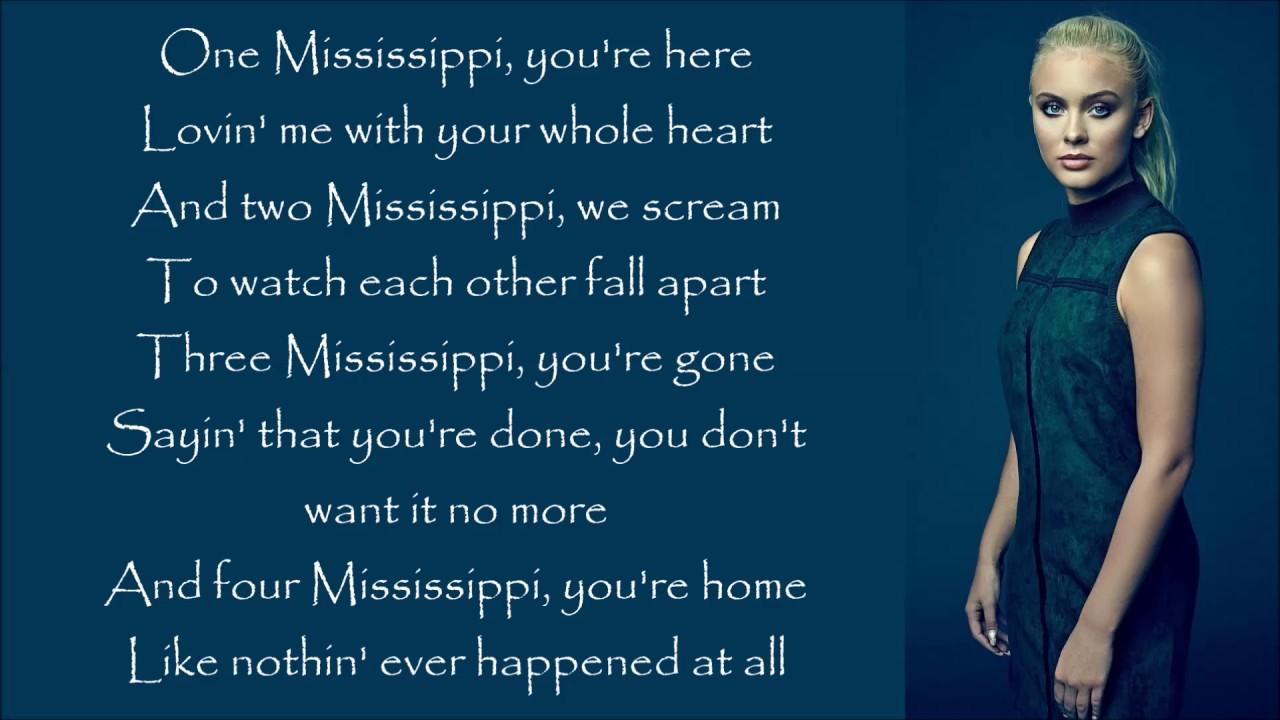 Zara Larsson ~ One Mississippi ~ Lyrics