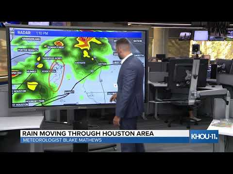 Weather update: Strong storms are moving through the northwest part of Houston