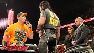 John Cena vs. Seth Rollins Contract Signing: Raw, Aug. 17, 2015
