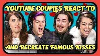 YouTube Couples React & Recreate Kiss Scenes (The Office, Spider-Man, More)